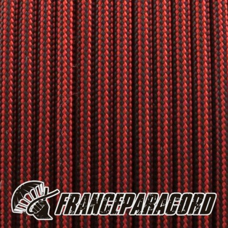 Paracord 550 - Imperial Red & Black Stripe