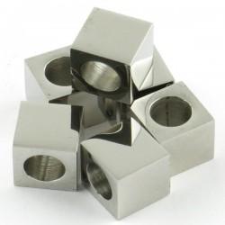 Perle cube inox 8*8*8mm