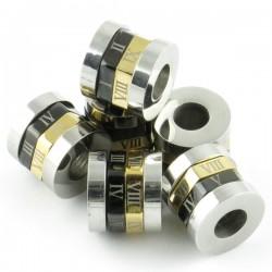 Perle chiffres romains inox 10*11mm