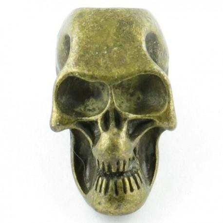 Tête de mort bronze trou vertical