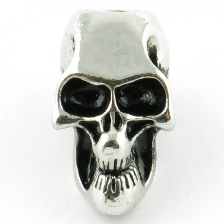 Tête de mort silver trou vertical