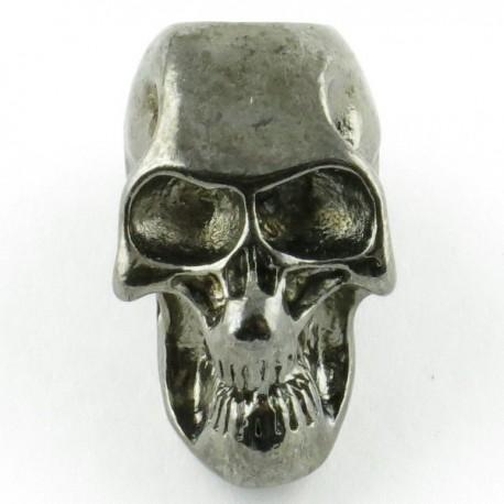 Tête de mort black silver trou vertical