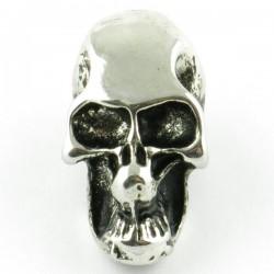Tête de mort silver trou latéral