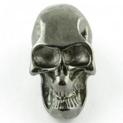 Tête de mort black silver trou latéral