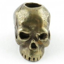 Tête de mort Classic Bronze massif huilé