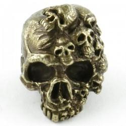 Tête de mort Mind Bronze massif huilé