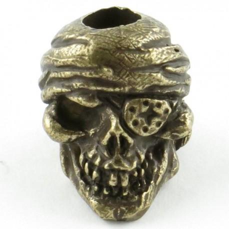 Tête de mort Pirate Bronze Massif Huilé