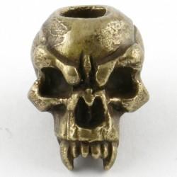 Tête de mort Fang Bronze Massif Huilé