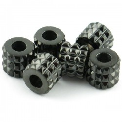 Perle spartan modèle 'X30' Black inox