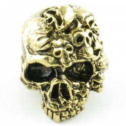 Mind Skull Bead Antique 18K Gold Plated