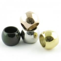 Perle convexe inox 6*8mm