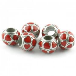 Perle coeurs inox 10*11mm