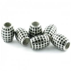 Tribal stainless steel bead 10*13mm