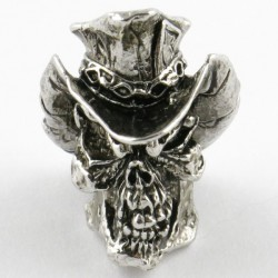 Tête de mort Vinnie Garoon Antique Rhodium
