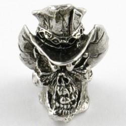 Cyber Skull Bead Pewter