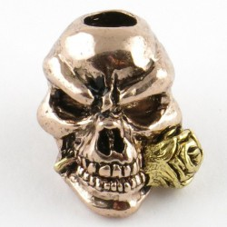 Tête de mort Rose Antique Rose Gold & Antique 18k Gold