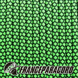 Paracord 550 - Green Neon Diamonds