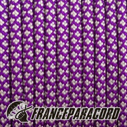 Paracord 550 - Acid Purple With Silver Grey Diamonds