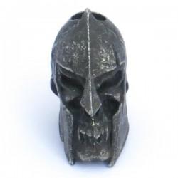 Spartan Skull Bead Black Oxidized
