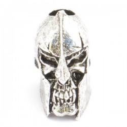 Spartan Skull Bead Antique Rhodium