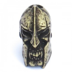 Spartan Skull Bead Roman Brass Oxidized