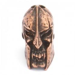 Spartan Skull Bead Roman Copper Oxidized