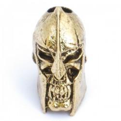 Spartan Skull Bead Antique 18K Gold