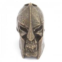 Tête de mort Spartan Bronze Massif Huilé