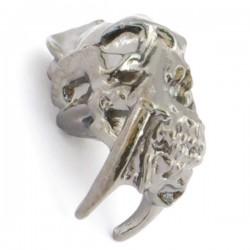 Sabretooth Skull Bead Hematite