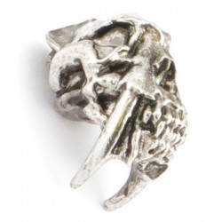 Sabretooth Skull Bead Antique Rhodium