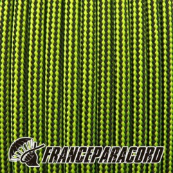 Paracord 550 - Neon Yellow & Black Stripes