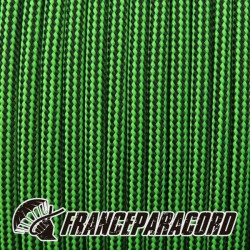 Paracord 550 - Neon Green & Black Stripes