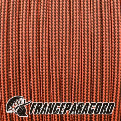 Paracord 550 - Neon Orange & Black Stripes