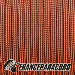 Paracord 550 - Neon Orange & Black Stripes