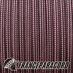Paracord 550 - Rose Pink & Black Stripes