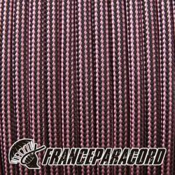 Paracord 550 - Rose Pink & Black Stripes