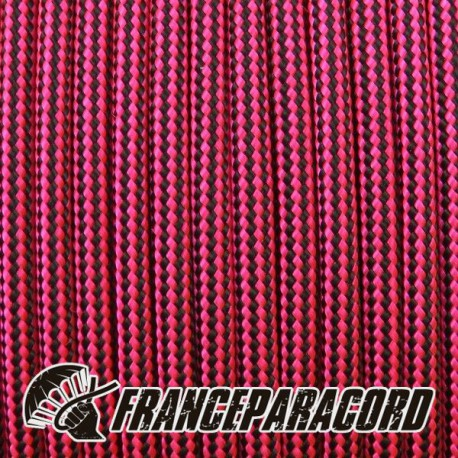 Paracord 550 - Neon Pink & Black Stripes