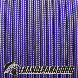 Paracord 550 - Acid Purple & Silver Grey Stripes