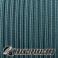 Paracord 550 - Neon Turquoise & Black Stripes