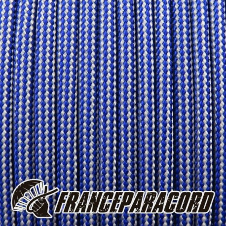 Paracord 550 - Electric Blue & Silver Grey Stripes
