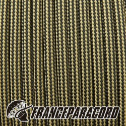 Paracord 550 - Tan 380 & Black Stripes