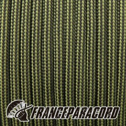 Paracord 550 - Moss & Black Stripes