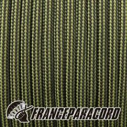 Paracord 550 - Moss & Black Stripes