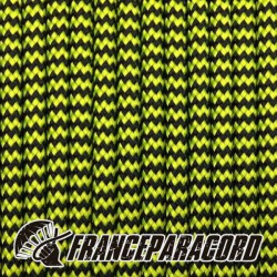 Paracord 550 - Neon Yellow & Black Shockwave