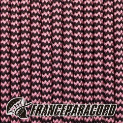 Paracord 550 - Rose Pink & Black Shockwave