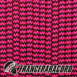 Paracord 550 - Neon Pink & Black Shockwave