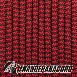 Paracord 550 - Imperial Red & Black Shockwave