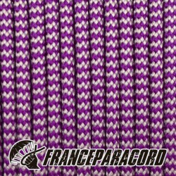 Paracord 550 - Acid Purple & Silver Grey Shockwave