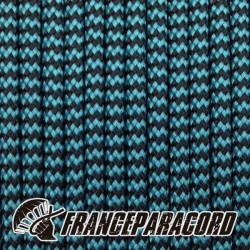Paracord 550 - Neon Turquoise & Black Shockwave