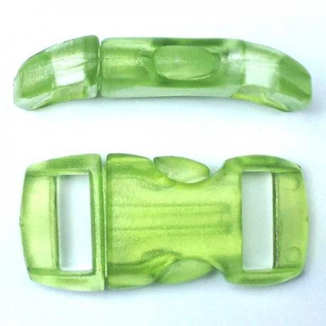 Boucle cristal 15mm pistache